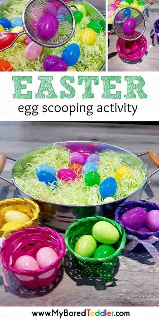 easy easter egg scooping activity for toddlers