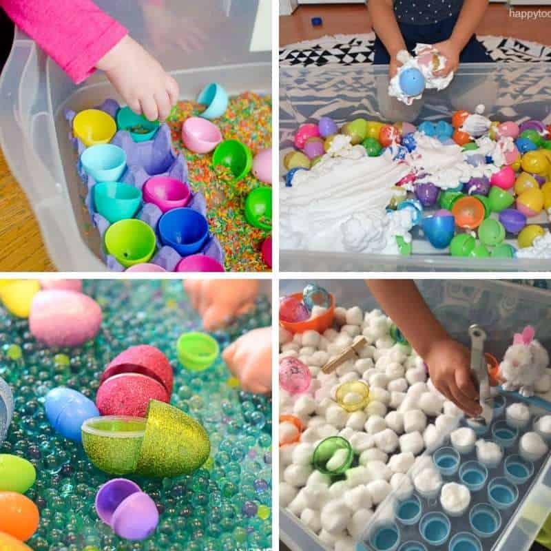 fun easter sensory bins for toddlers and preschoolers