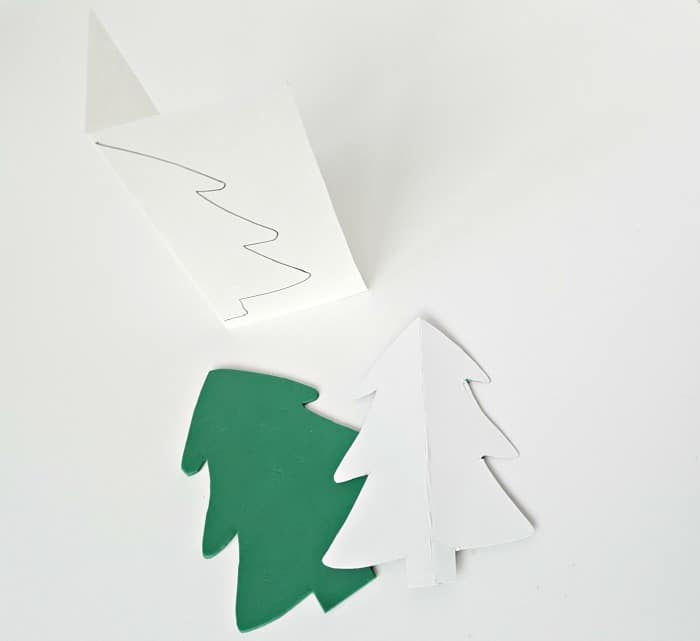 Cut out tree shape from sheet of craft foam