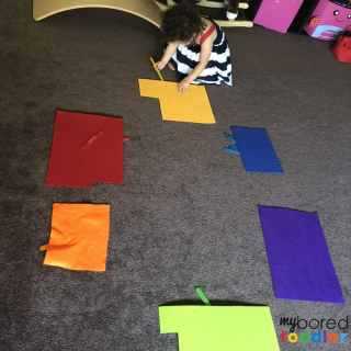 toddler color recognition and sorting activity easy