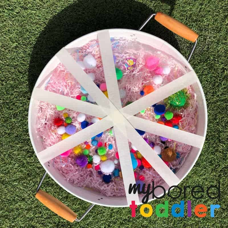 sensory pom pom fine motor activity for toddlers 1