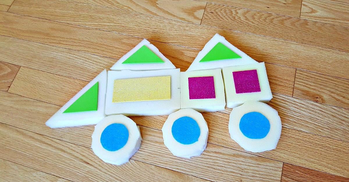 Building with homemade foam blocks