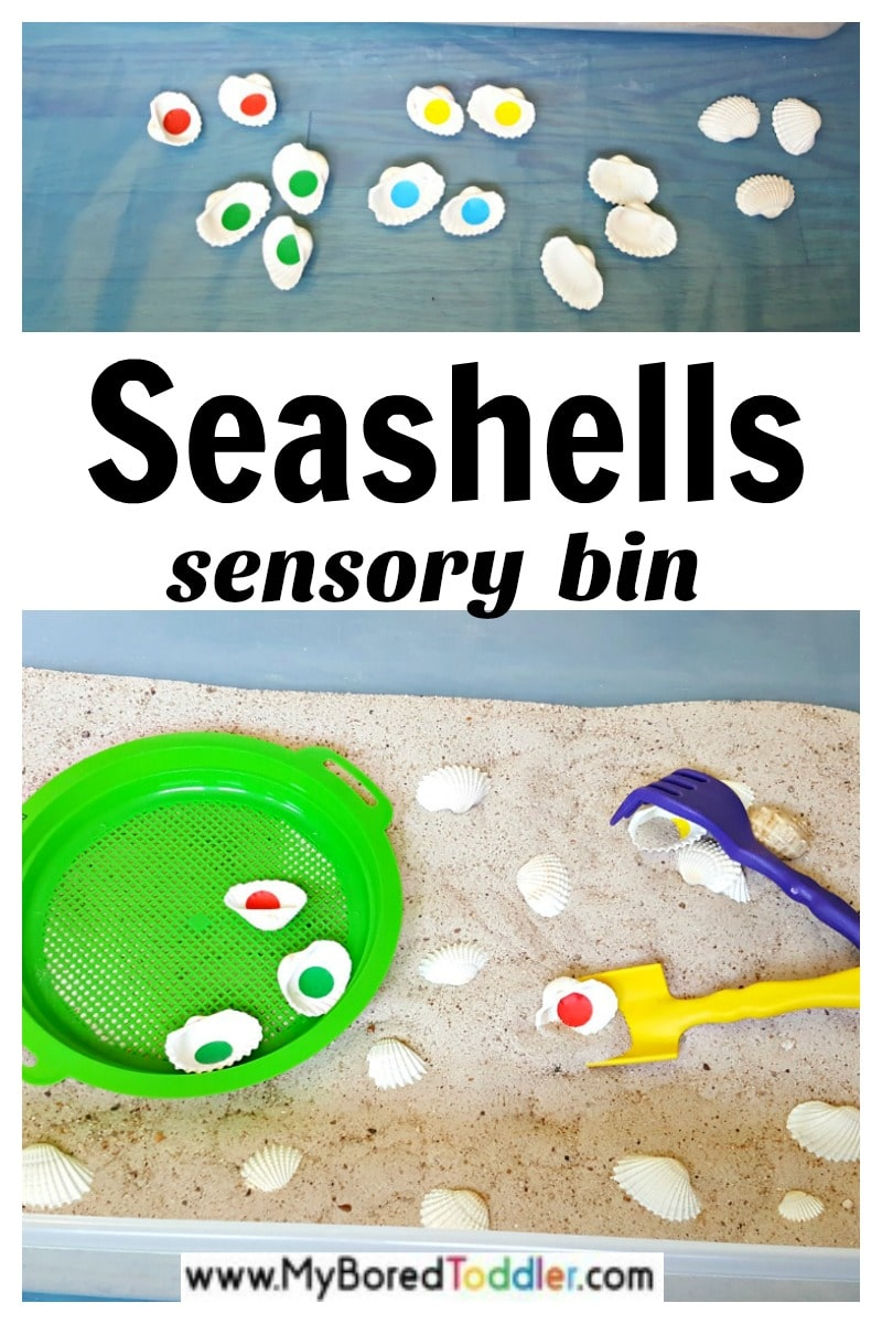seashells sensory bin sensory play for toddlers and preschoolers