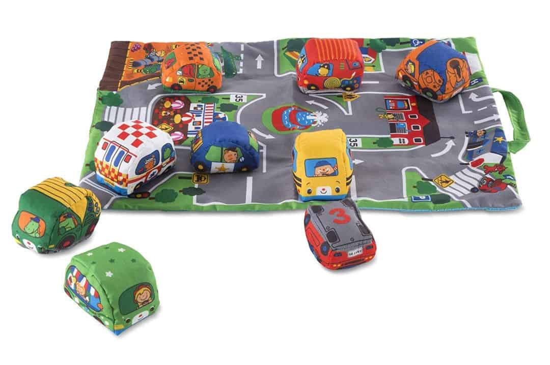 Melissa and doug take along town with soft cars gift idea for 6 month old baby