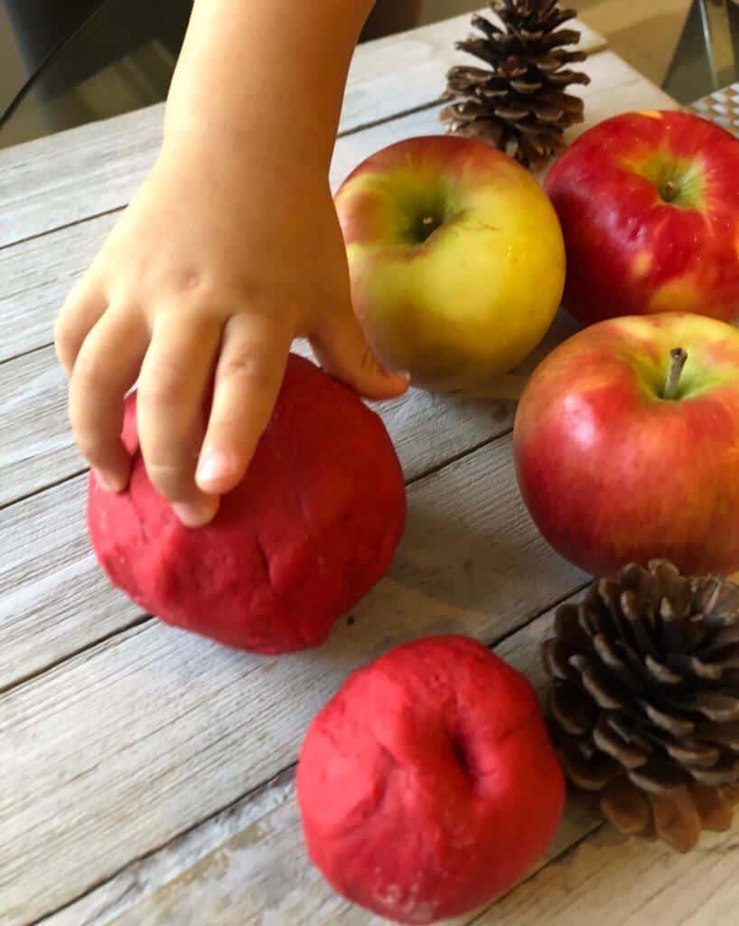 apple scented playdough