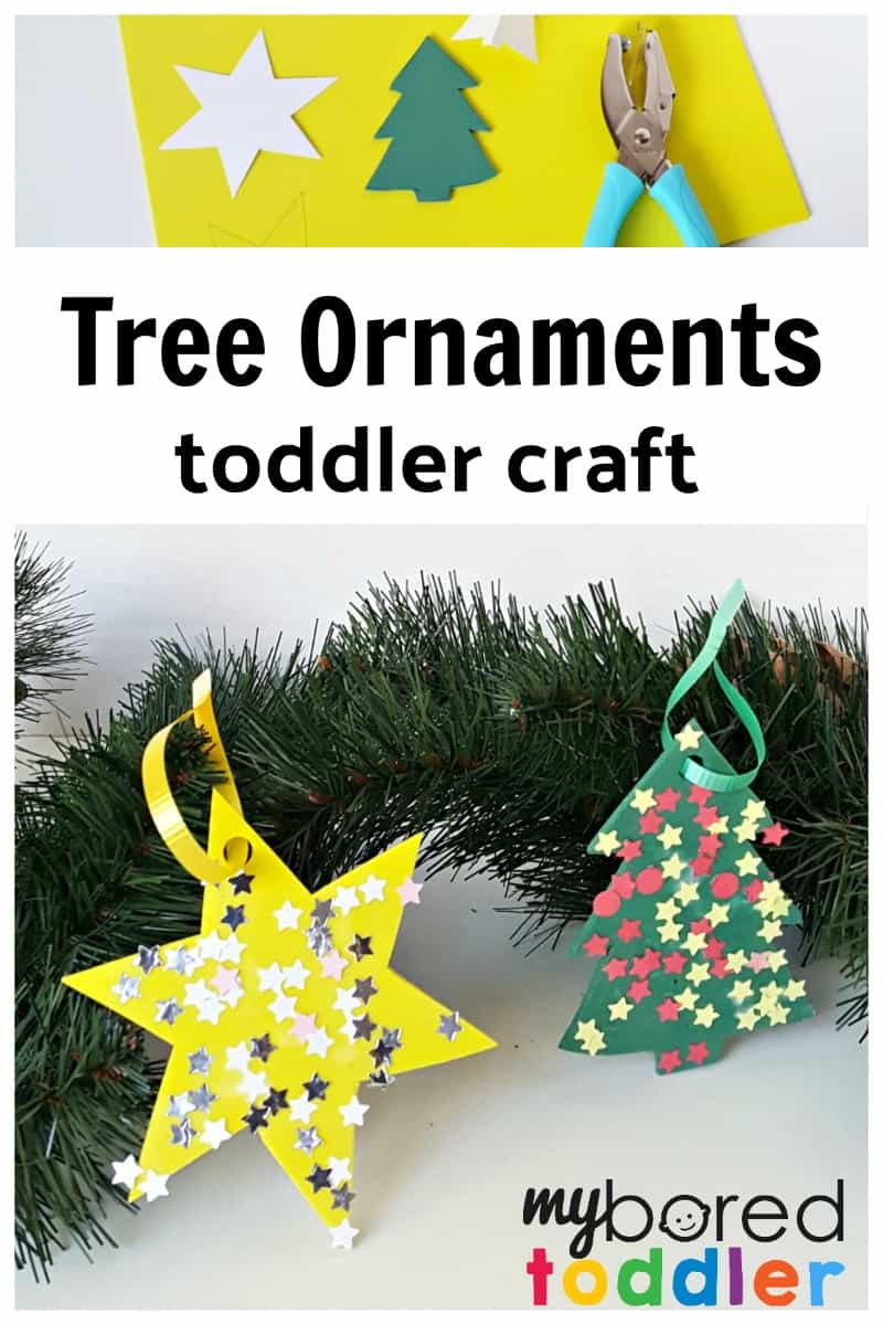 Tree ornaments foam craft for toddlers for Christmas