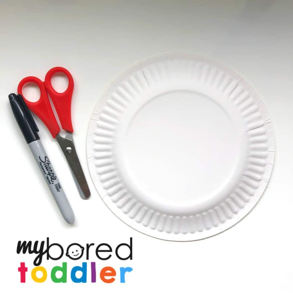 paper plate haircuts scissor skills toddler activity what you need