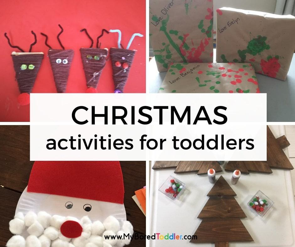 Christmas Activities to do at home with Toddlers (easy!)