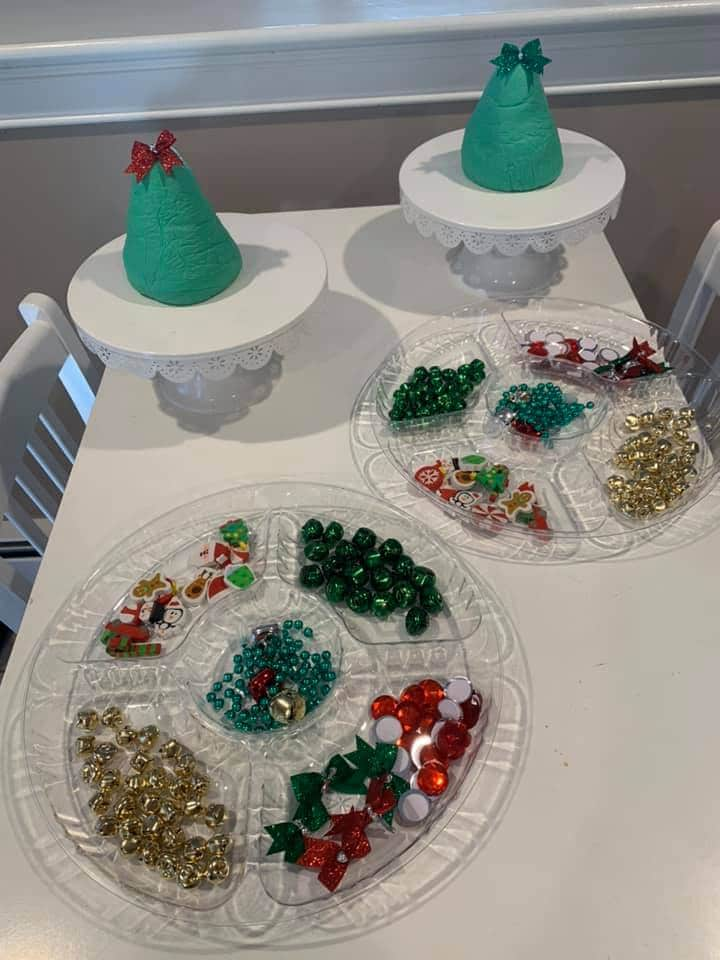 playdough christmas tree craft for toddlers inviation to play candie