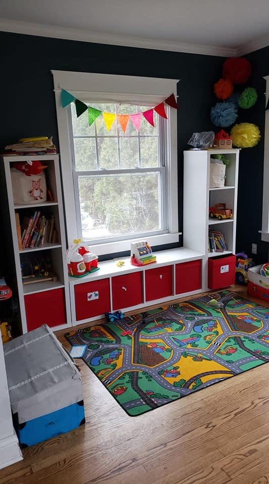 ikea shelving for toy storage