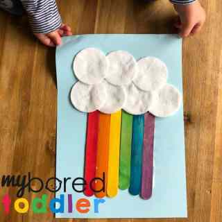 craft stick rainbow for toddlers to make 6