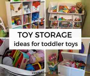 Real Life Toy Storage Ideas for Toddler Toys