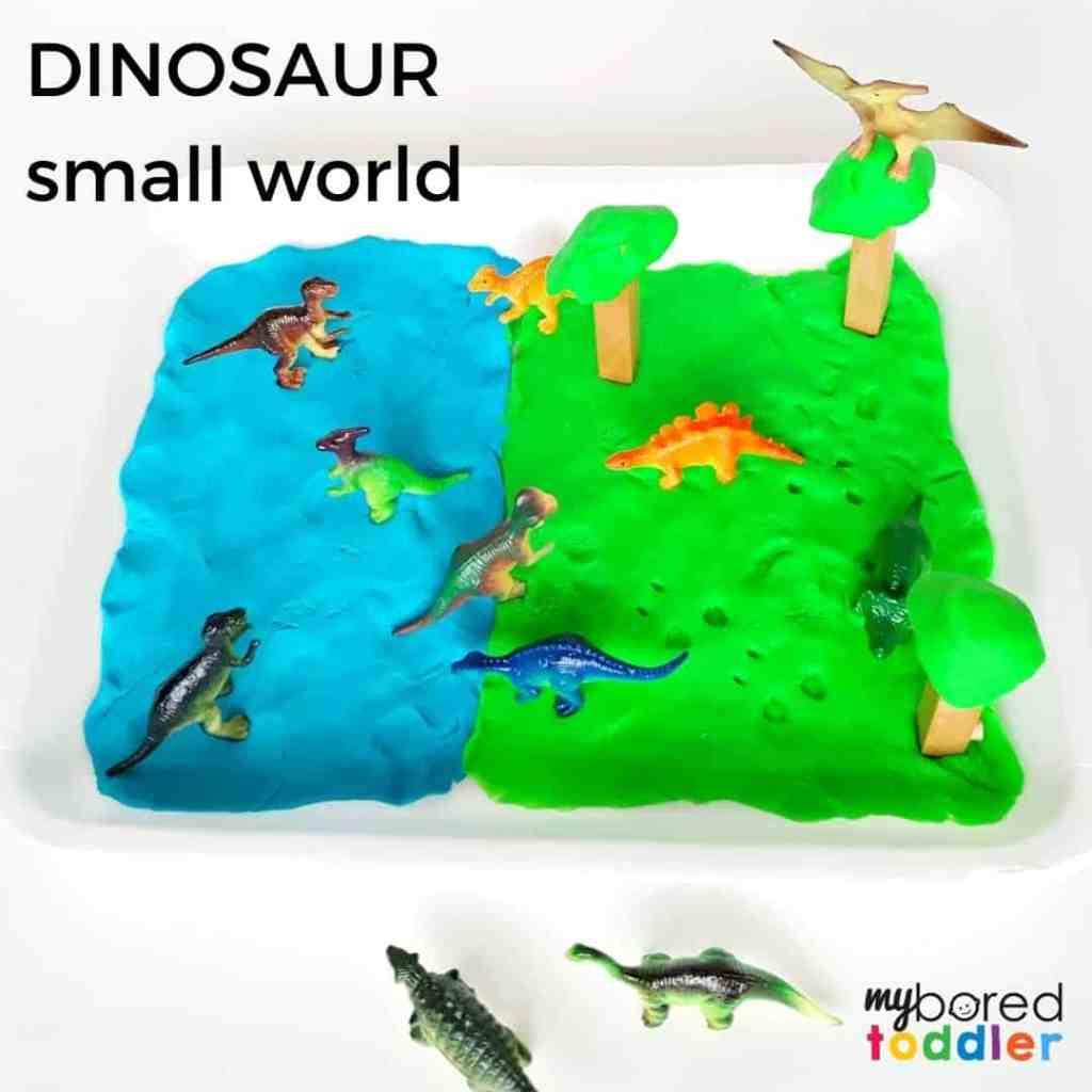 Dinosaur Small World with Play Dough
