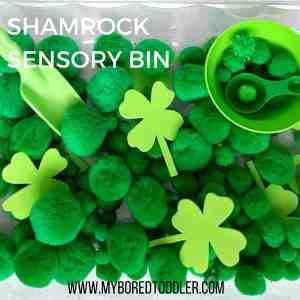 Shamrock Sensory Bin