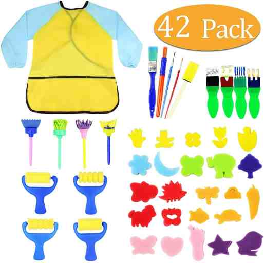 paint brush set indoor activity ideas for toddlers