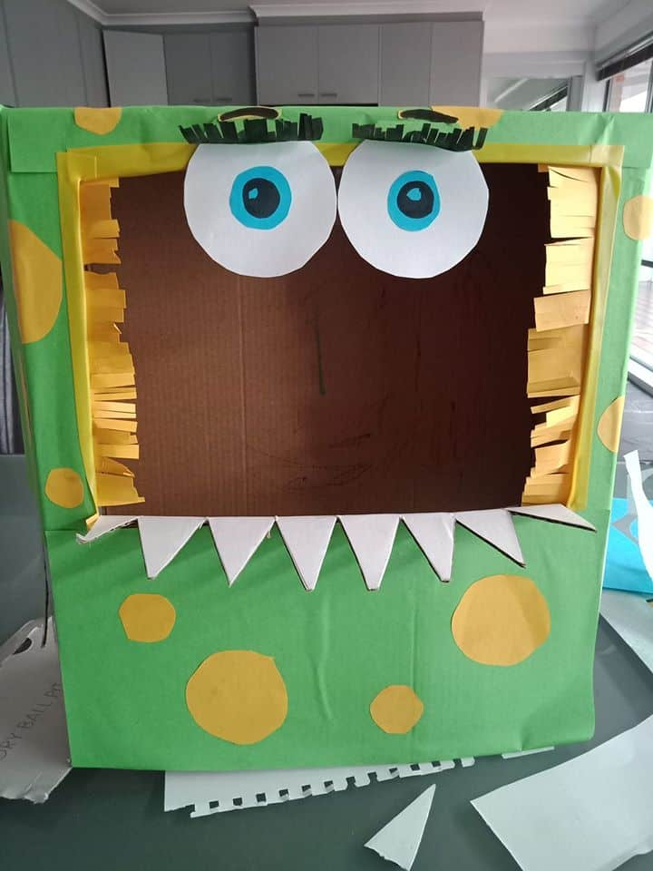 franky monster cardboard box creation