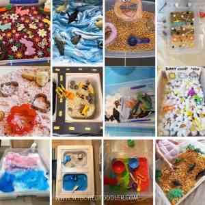 Sensory Bin Ideas for 1, 2 & 3 year olds