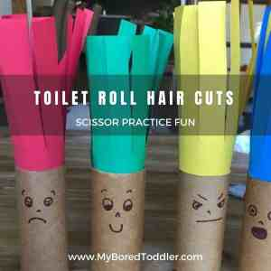Crazy Hair Fine Motor Toddler Craft