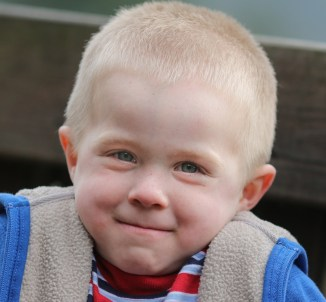 cute little boy smiling