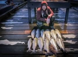 coho salmon Ketchikan Knudsen Cove dock