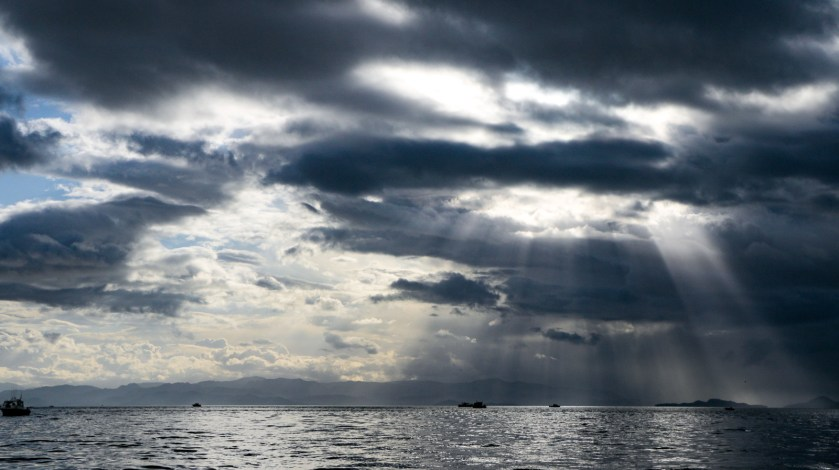 sun through clouds Ketchikan