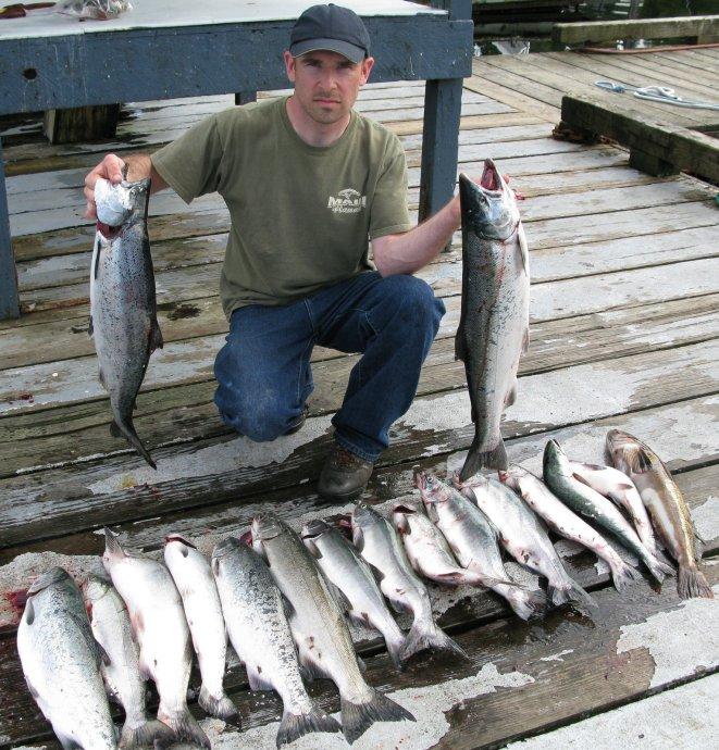 silver salmon catch Knudsen Cove