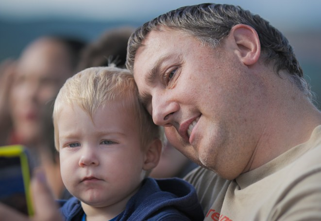 dad and son