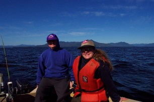 amity and scoot on boat in Ketchikan
