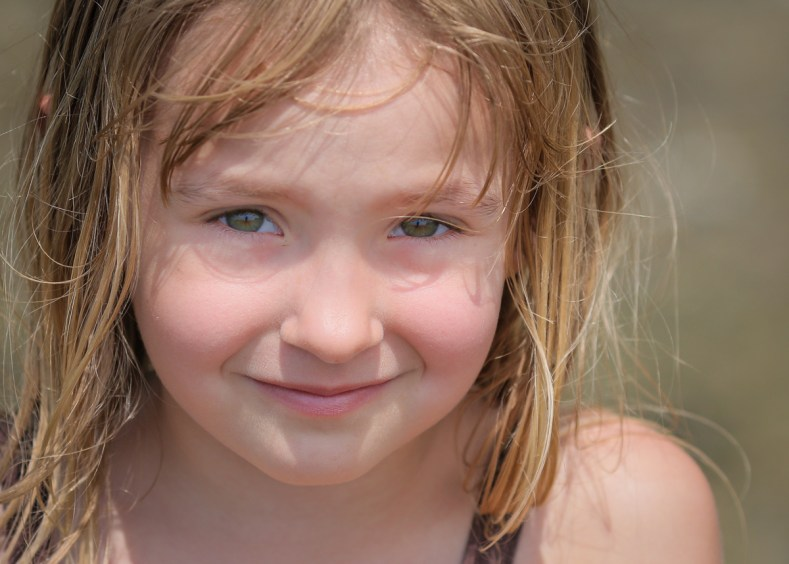 little girl close-up