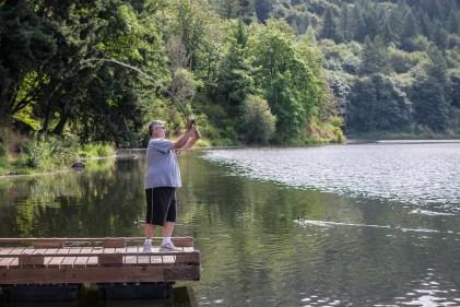 Mike fishing