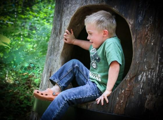 little kid climbing