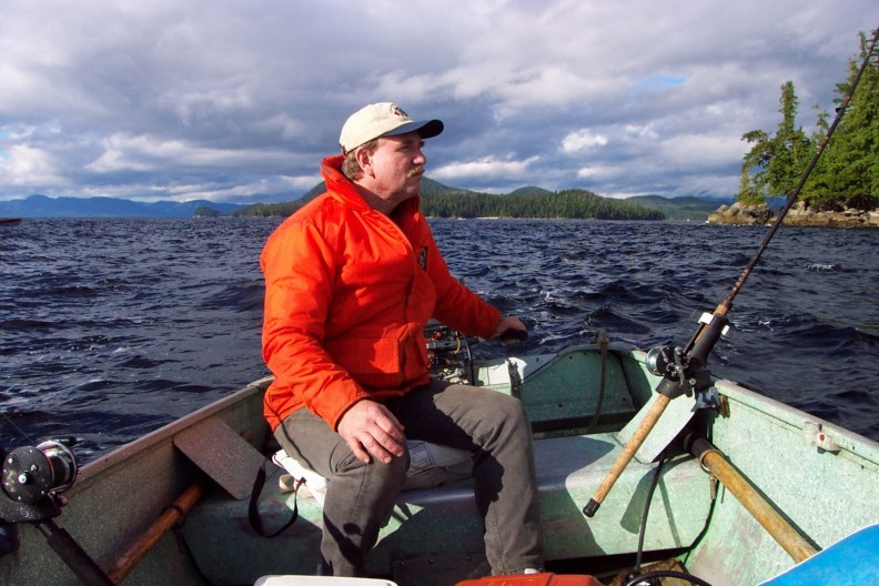 fishing in skiff in Ketchikan