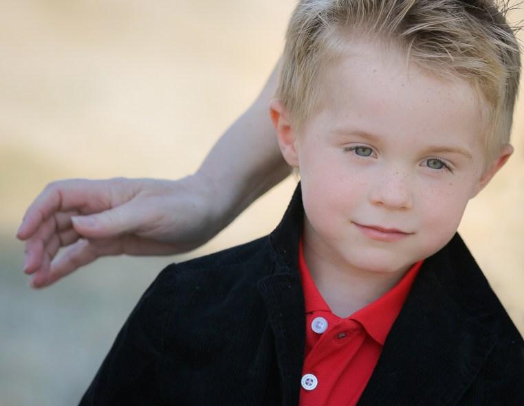 little boy sharp dressed