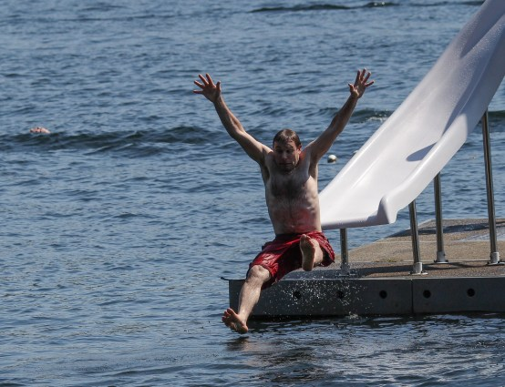 airborne off water slide