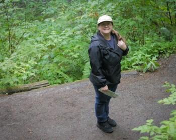 amity on hiking trail