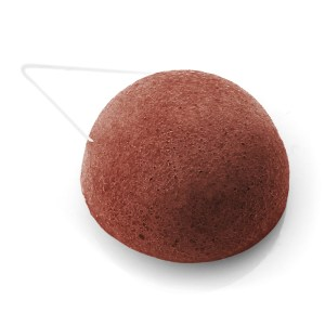 éponge konjac argile rouge ronde
