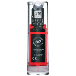 Tilt Hydrometer and Thermometer - Red