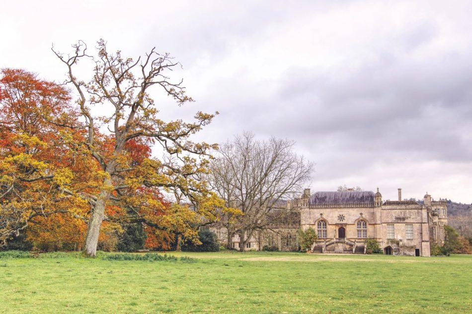 Lacock jesień w UK