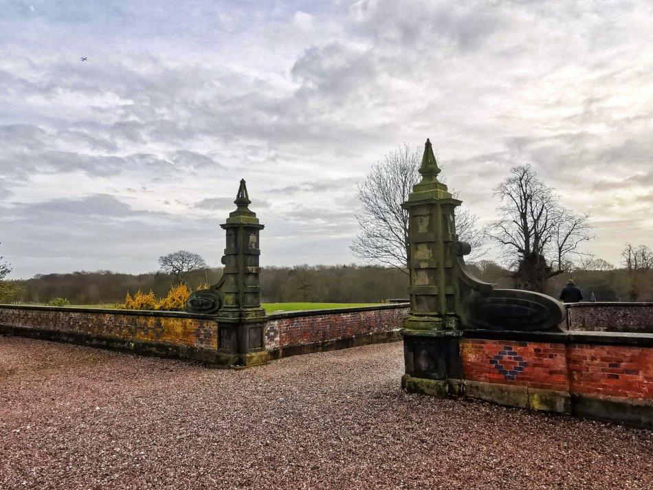 Arley Hall piękna brama prowadząca do parku