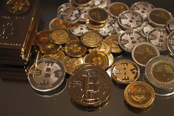 Some Of Bitcoin Enthusiast Mike Caldwells Coins Are Pictured At His Office In Sandy