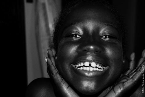 Beautiful African American Girl With Dark Skin
