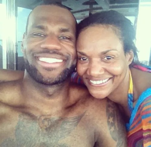 Lebron James and Mother Gloria James