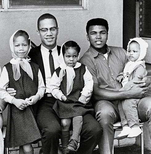 Malcolm X_Muhammad Ali_and children