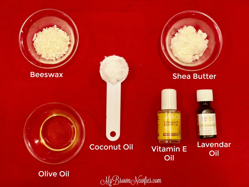 ingredients to make paw wax for dogs