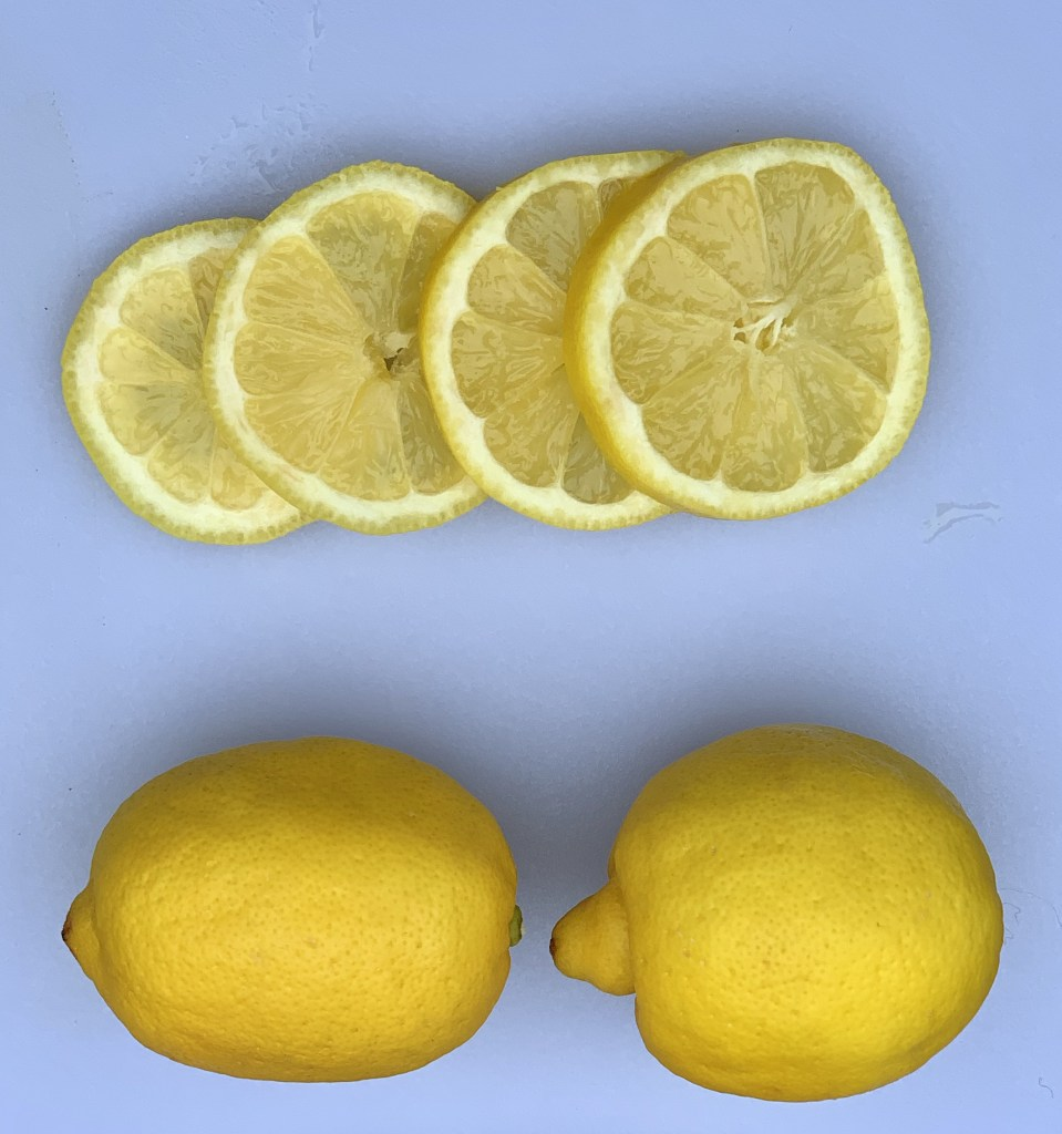 mosquitoes don't like the citrus smell of lemons