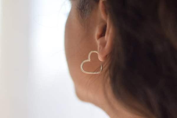Aros Amor Medianos de Plata 925
