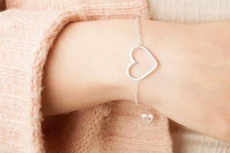 Pulsera Corazón de plata 925