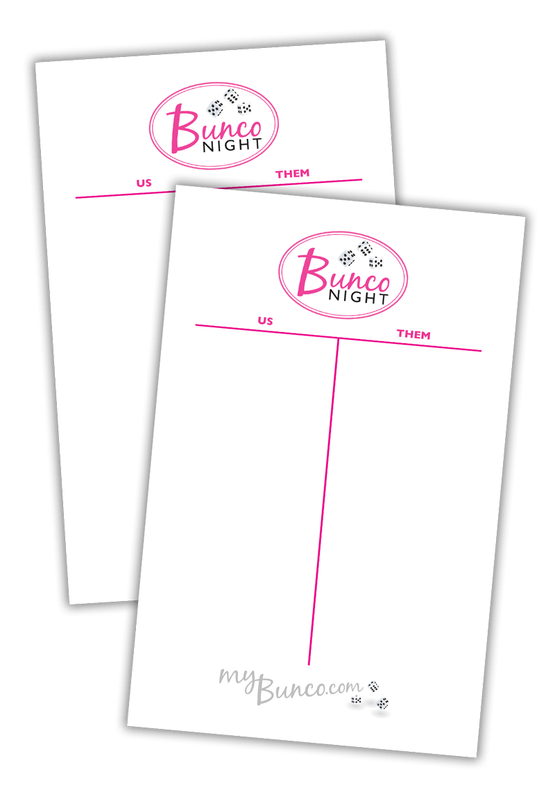 It's just a graphic of Gratifying Printable Bunco Sheets