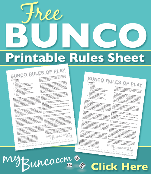 photo relating to Bunco Rules Printable named BUNCO Recommendations OF Enjoy