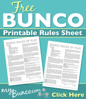 Free Bunco Printable Score Sheet